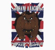 Union Jack And Bulldog T Shirt With Profanity by Moonlake