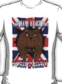 Union Jack And Bulldog T Shirt With Profanity T-Shirt