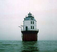 """Baltimore Lighthouse in Fog"" Chesapeake Bay, Maryland. 1997 by jwhimages"