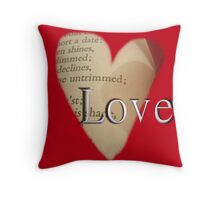 Love In Shakespeare Throw Pillow