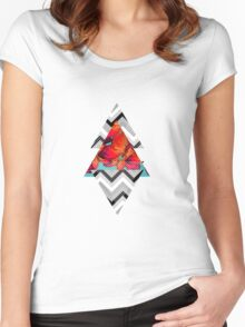 butterfly pattern  Women's Fitted Scoop T-Shirt