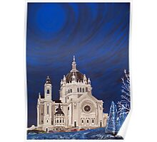 St. Paul Cathedral At Night Poster