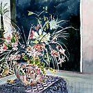 Victorian still life with flowers art prints by derekmccrea
