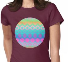 Rainbow Ikat Pattern Womens Fitted T-Shirt