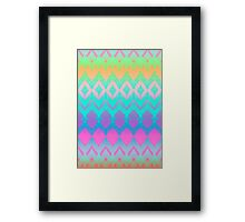Rainbow Ikat Pattern Framed Print