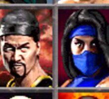 Mortal Kombat 2 Character Select Sticker