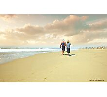 Walking in Huntington Beach Photographic Print