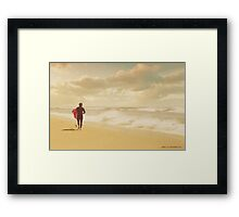 The Surfer Framed Print
