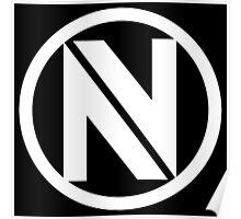 CS:GO EnVyUs Logo WHITE Poster