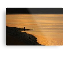 Fishing at Sunset... Metal Print