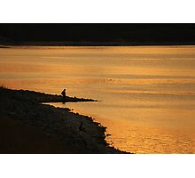 Fishing at Sunset... Photographic Print