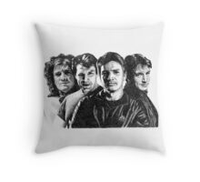 The Many Faces of Nathan Fillion Throw Pillow