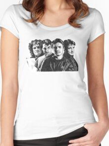 The Many Faces of Nathan Fillion Women's Fitted Scoop T-Shirt