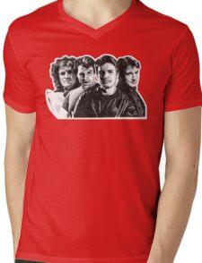 The Many Faces of Nathan Fillion Mens V-Neck T-Shirt