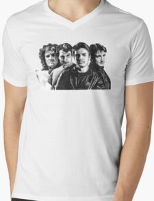 The Many Faces of Nathan Fillion Mens V-Neck T-Shirt