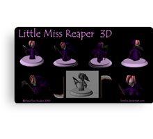 Little Miss Reaper 3D Canvas Print