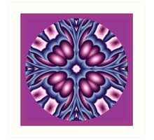 Mandala lila blau Art Print