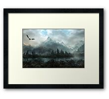 Dragon Mountain inverse Framed Print