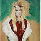 Hippie Girl with coat and red tunic by yasmine