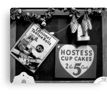 Hostess Cup Cakes and Tootsie Rolls Canvas Print