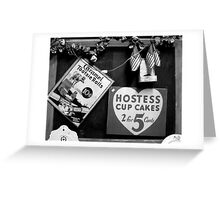 Hostess Cup Cakes and Tootsie Rolls Greeting Card