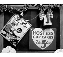 Hostess Cup Cakes and Tootsie Rolls Photographic Print