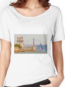 belem tower. sca girls team. volvo ocean race 2015.lisbon.portugal Women's Relaxed Fit T-Shirt