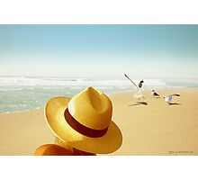 The Man and the Seagulls Photographic Print