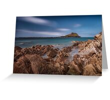 Worm's Head Rhossili Gower Greeting Card