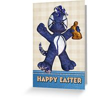 Easter Card With Cute Dragon Denim Greeting Card