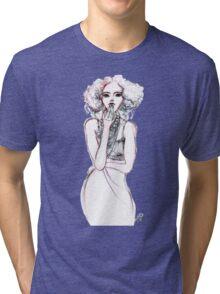 Fashion Illustration 1 Tri-blend T-Shirt