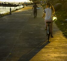 Vietnam Girl on a bicycle  by JohnKarmouche