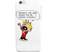 calvin demands euphoria iPhone Case/Skin