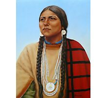 Spirit And Dignity-Native American Woman Photographic Print