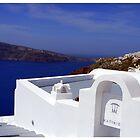 If you take those steps down.... Santorini by kelliejane