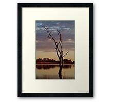 First Light,Lake Fyans Grampians Framed Print