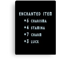 Enchanted Item Bonus Stats RPG T Shirt Canvas Print