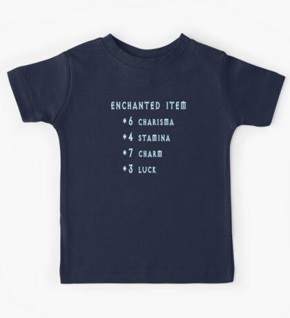 Enchanted Item Bonus Stats RPG T Shirt Kids Tee