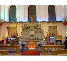 Altar at Church of Sacred Heart Photographic Print