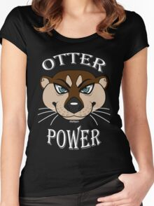 Otter Power Women's Fitted Scoop T-Shirt