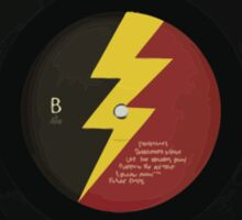 Lightning Bolt Record Sticker
