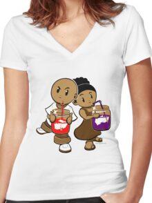 Kool Kids Women's Fitted V-Neck T-Shirt