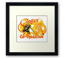 Jolly Cooperation! Framed Print