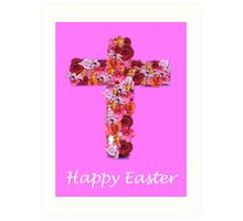 Easter Cross Art Print