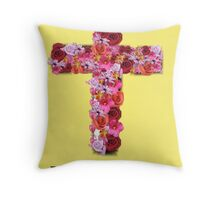 Happy Easter Cross  Throw Pillow