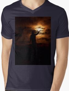 The Light of The Night Mens V-Neck T-Shirt