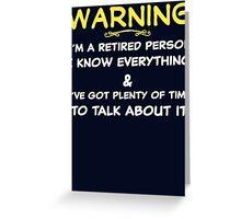 Funny Retirement T Shirt Greeting Card