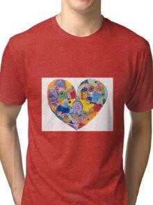 Love Heart Tri-blend T-Shirt