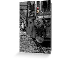 Old locomotive Greeting Card