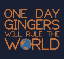Funny Ginger Hair T Shirt - One Day Gingers Will Rule The World by bitsnbobs